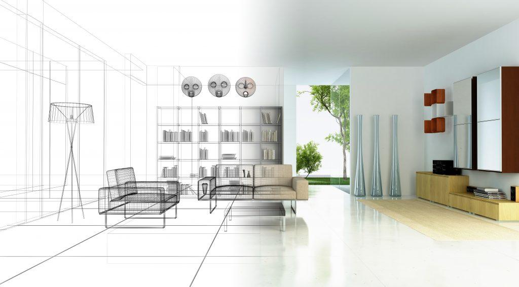 Rendering 3d progetto, interni, Etnico, Appartamento